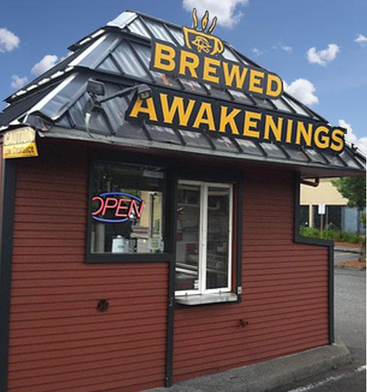 Brewed Awakenings drive thru coffee North Portland