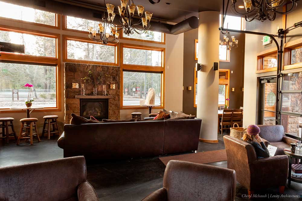Inside the new coffee shop and bakery in Sunriver, Oregon