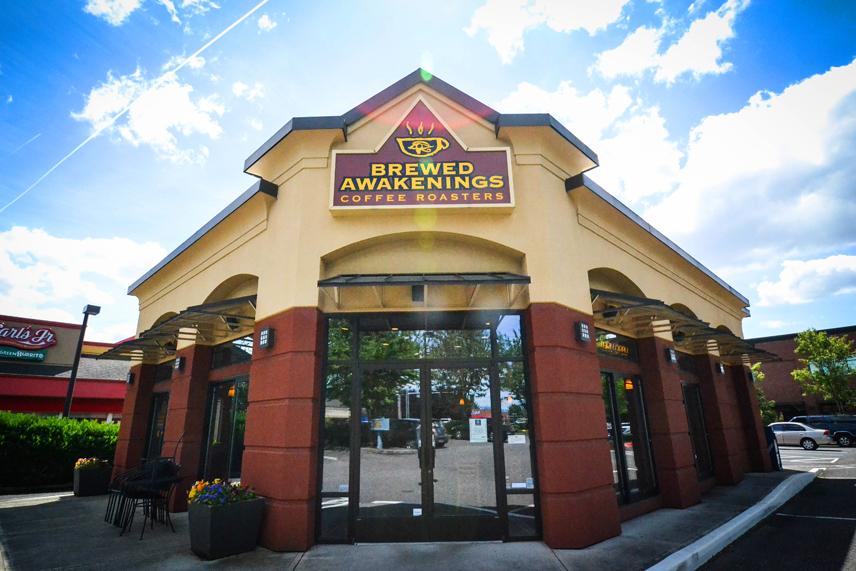 Brewed Awakenings coffee shop near fishers landing Vancouver, Washington