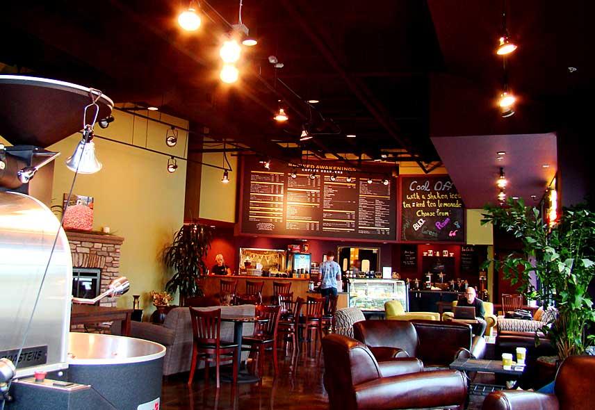 Inside coffee shop on 63rd Street