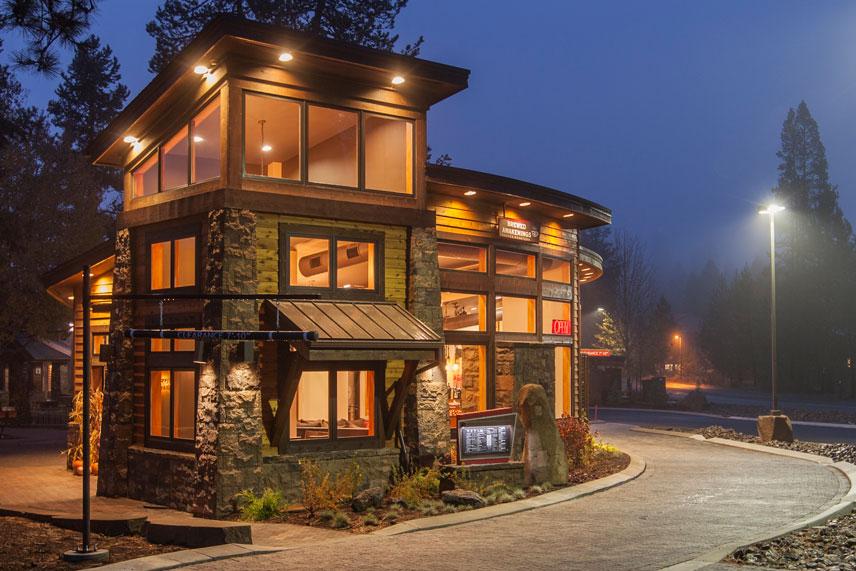 photo of brewed awakenings building in sunriver village